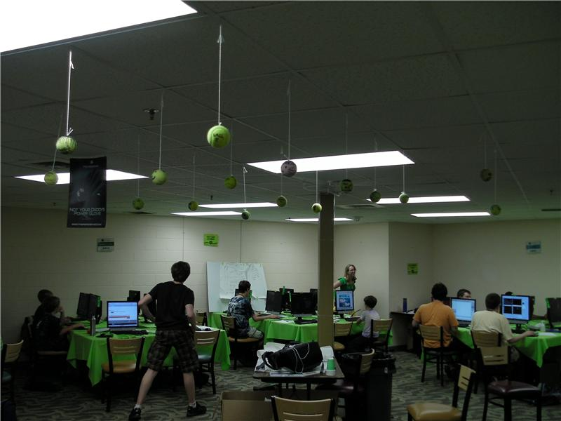 Most Customized Tennis Balls Suspended From Ceiling